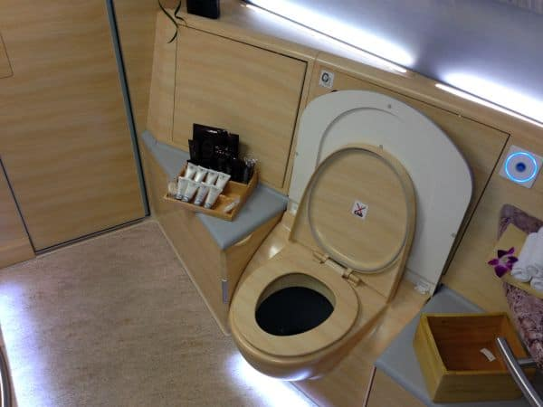 Emirates First Class A380 bathroom