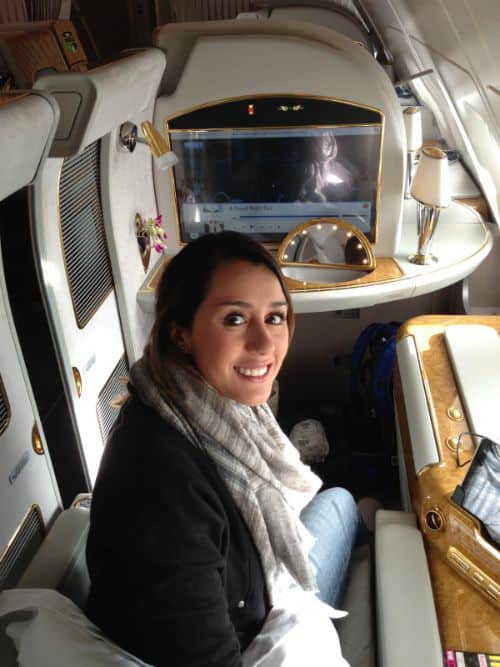 Emirates First Class A380 seat