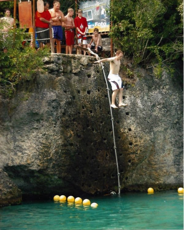 My first cliff jump