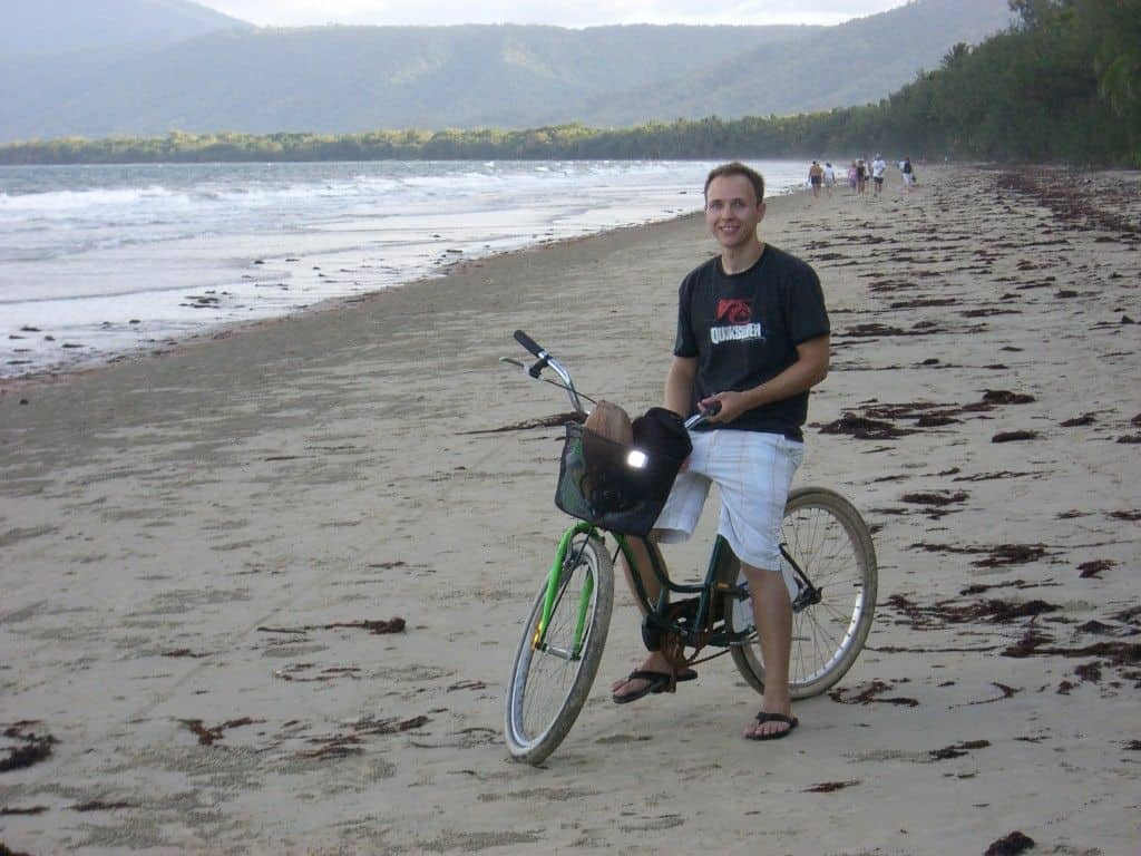 beach biking australia