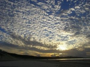 Beautiful sunset over Fraser Island, Australia