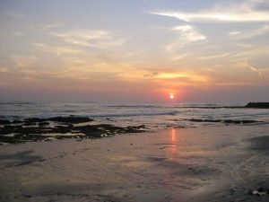 Sunset Canggu beach