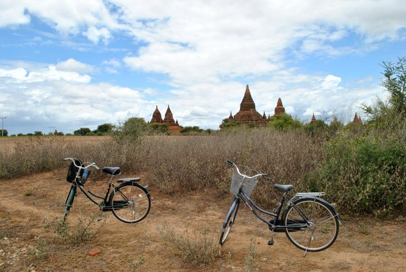 biking in Bagan Myanmar