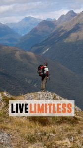 Hiking Live Limitless New Zealand Phone Wallpaper