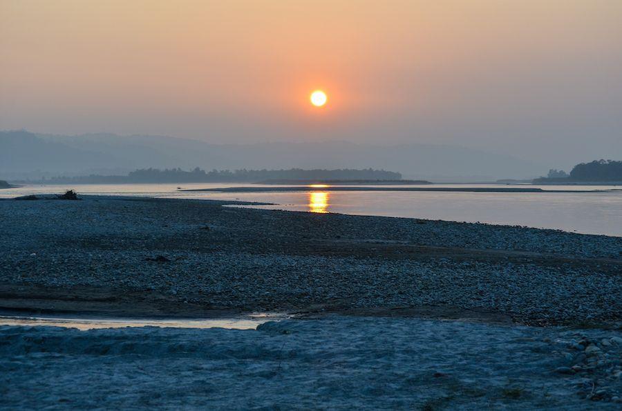Sunset Chitwan National Park