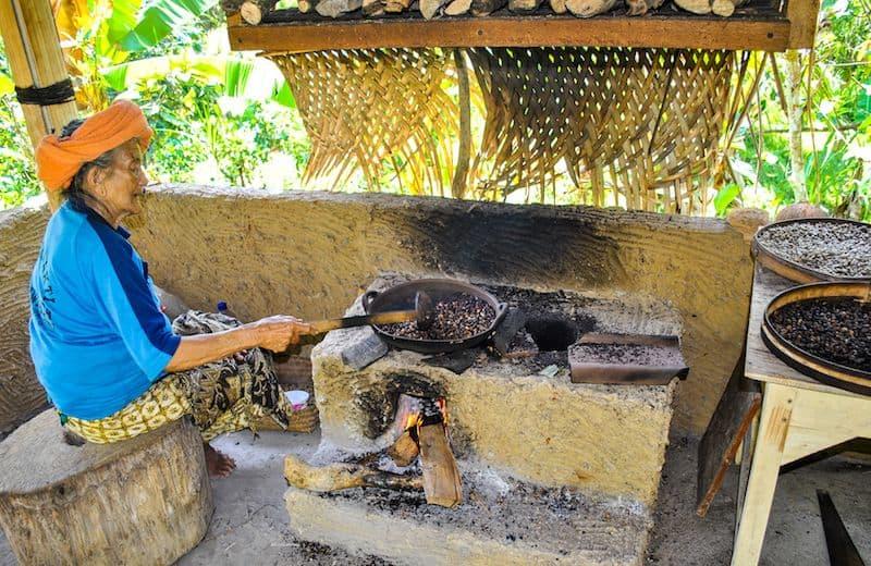 Roasting Coffee Bali