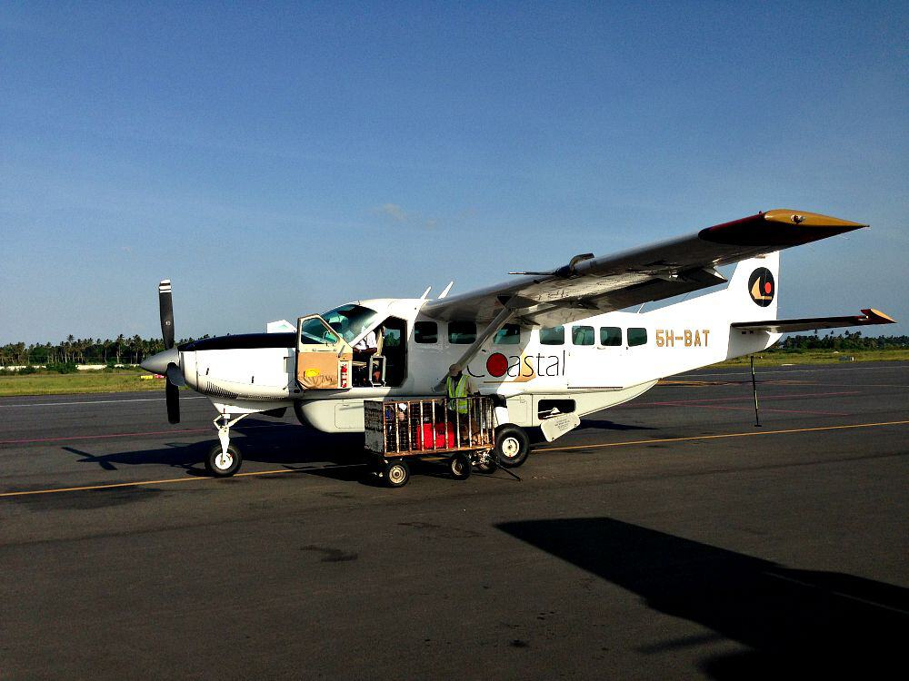 Plane to Zanzibar