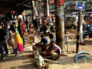 The streets of Delhi India