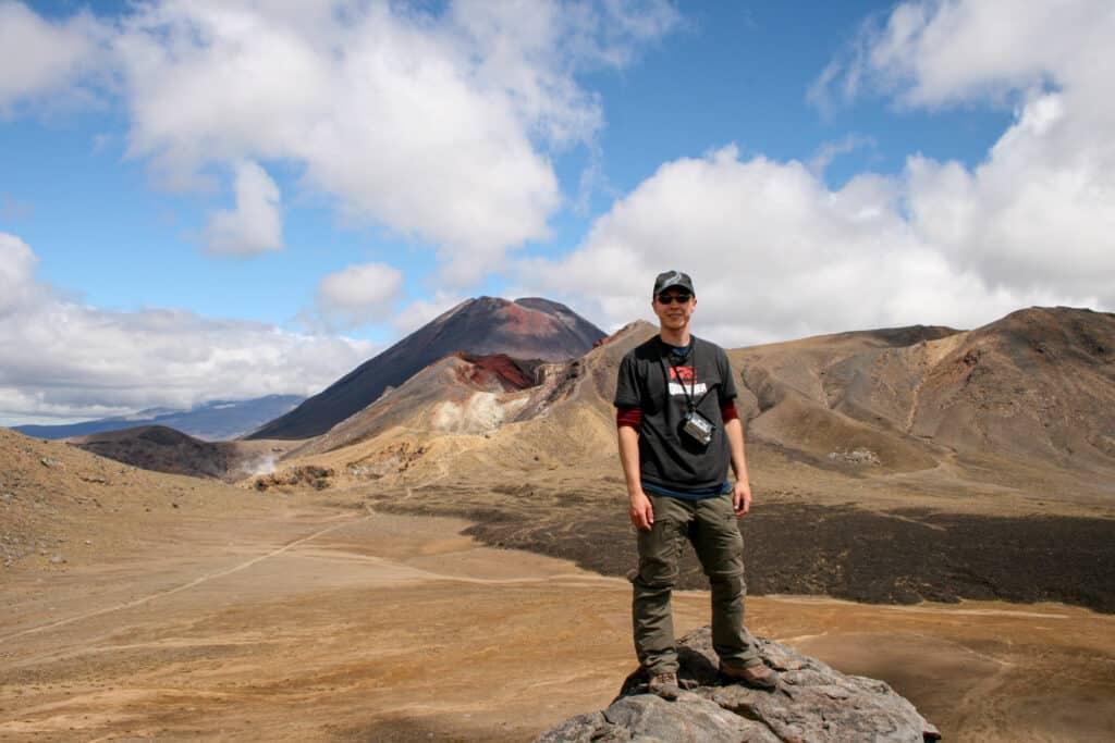 Hiking Tongariro Alpine Crossing in New Zealand